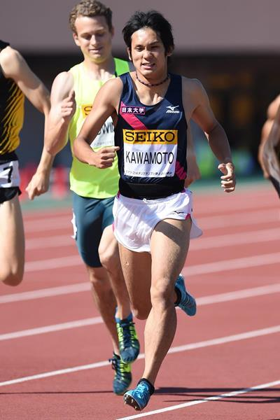 Sho Kawamoto on his way to breaking the Japanese 800m record in Tokyo (Getty Images)