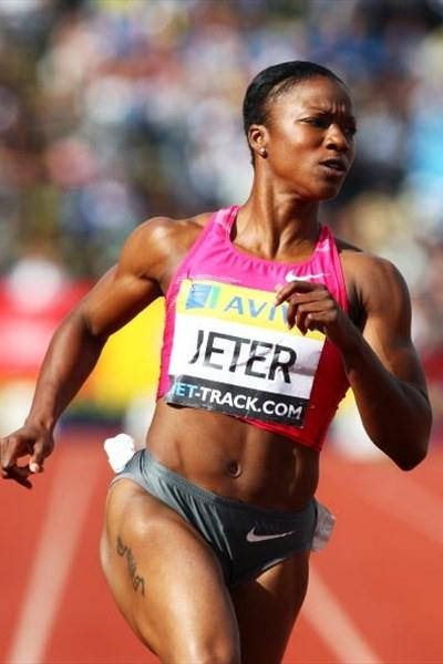 Carmelita Jeter dominant run in London (Getty Images)