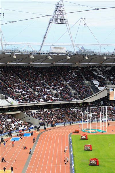 London Olympic stadium during LOCOG test event, May 2012 (Getty Images)