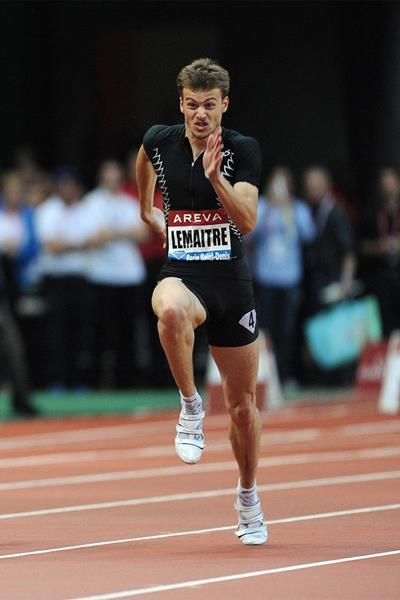 French sprinter Christophe Lemaitre in action in the 100m (Jean-Pierre Durand)