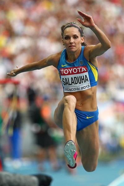 Olha Saladuha in the womens Triple Jump at the IAAF World Athletics Championships Moscow 2013 (Getty Images)