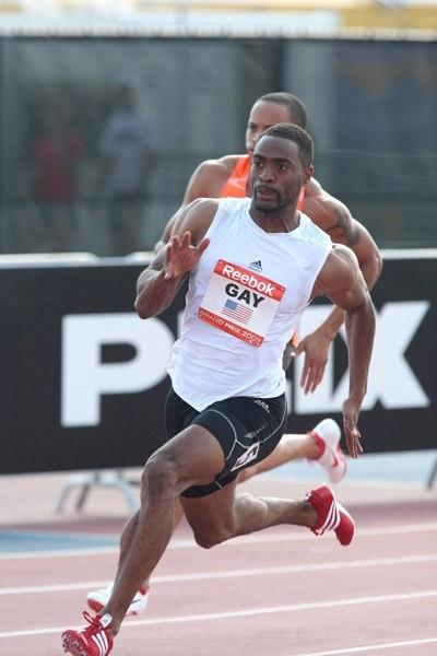 Tyson Gay powers back with a 19.58 victory in New York (Victah Sailer)