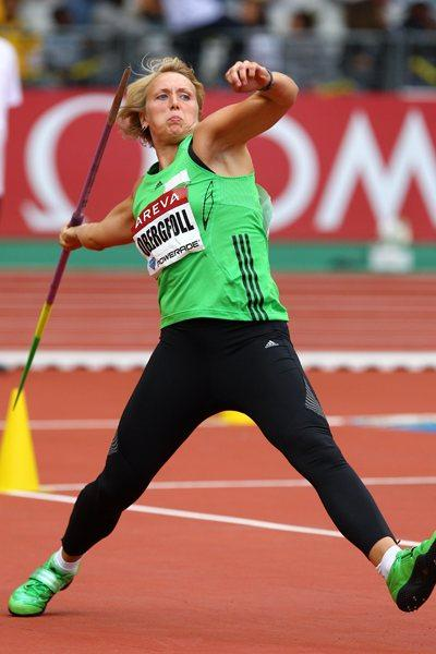 Christina Obergföll of Germany, who won the Javelin with a throw of 68.01 metres - Meeting Areva, Paris (Errol Anderson)