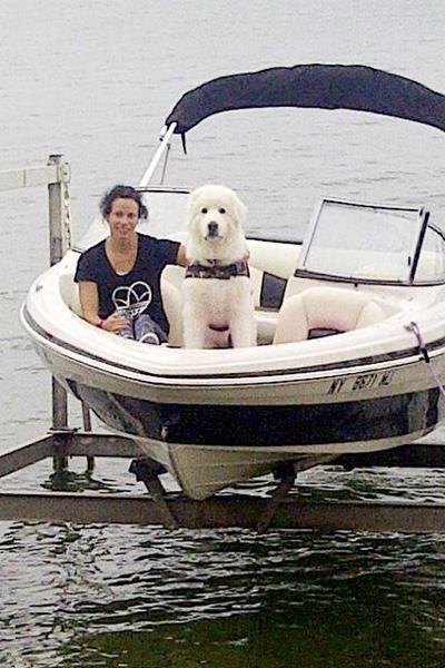 Jenn Suhr with her pet dog Tundra (Jenn Suhr)