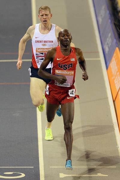 USA's Bernard Lagat wins the 3000m (Getty Images)