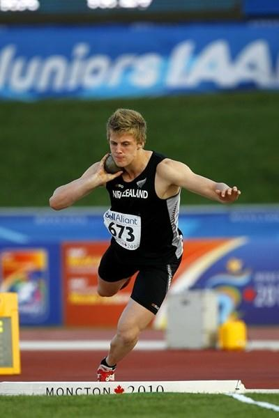 New Zealand's Jacko Gill surprises in the shot with a world age-15 best, a national junior record, and a gold medal (Getty Images)