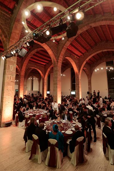 At the IAAF Centenary Welcome Dinner in Barcelona's Maritim Museum (Emilio Andreoli)