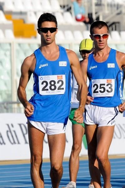 Italy's Georgio Rubino (l) en route to his runner-up finish at the Mediterranean Games in Pescara (Getty Images)
