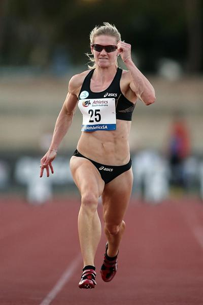 Melissa Breen wins the sprint double in Adelaide (Getty Images)