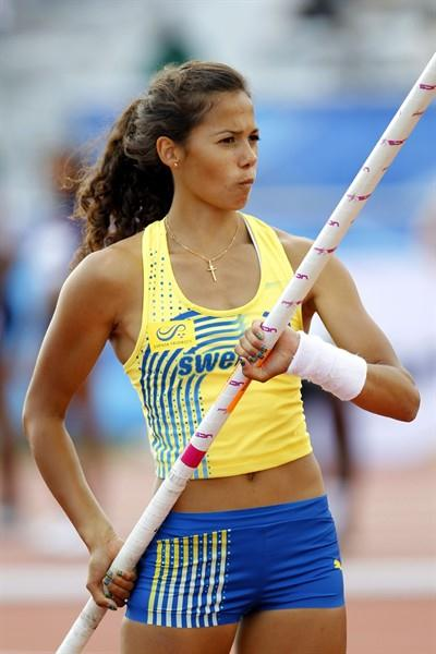 Sweden's Angelica Bengtsson on the Pole Vault runway (Getty Images)