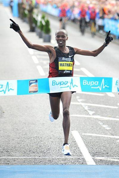 58:56 course record for Martin Mathathi at the Great North Run (Mark Shearman)
