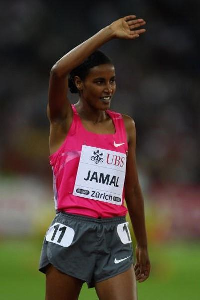 Maryam Jamal salutes her victory in Zurich (Getty Images)