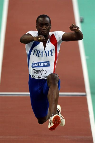 Teddy Tamgho of France competes in the Men's Triple Jump Final in which he set the World Indoor record (Getty Images)
