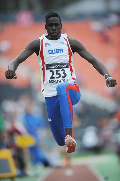 Lazaro Martinez, winner of the triple jump at the 2013 World Youth Championships (Getty Images)