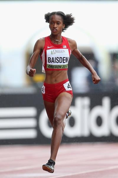 Kendall Baisden in the 400m at the 2014 IAAF World Junior Championships in Eugene (Getty Images)