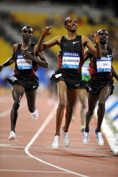 Yenew Alamirew wins big - sizzling 7:27.26 in Doha (Jiro Mochizuki)