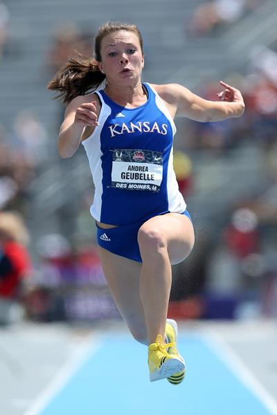 Andrea Geubelle, winner of the 2013 US Triple Jump title (Getty Images)