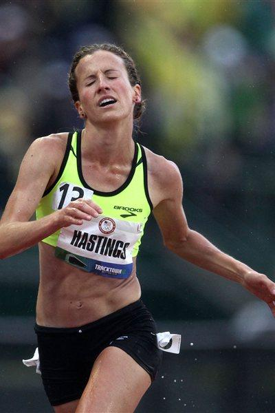 Amy Hastings wins the 10,000m at the 2012 US Olympic Trials (Getty Images)