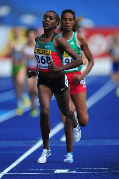 Faith Chepngetich Kipyegon of Kenya during the Girls 1500 metres qualification - WYC Lille 2011 (Getty Images)