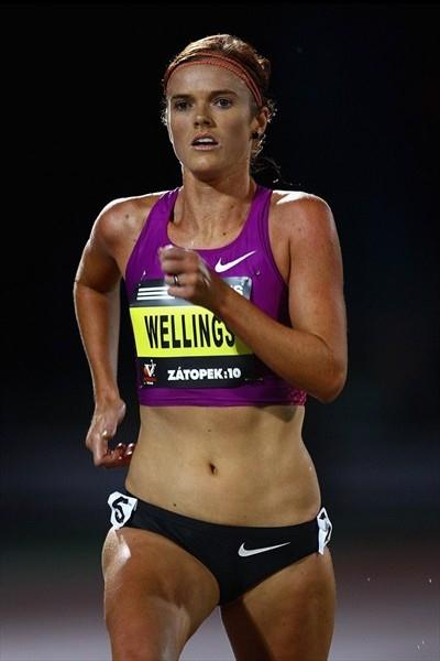 Eloise Wellings en route to her second Zatopek 10,000m title (Getty Images)