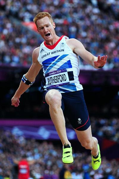 Greg Rutherford of Great Britain competes in the Men's Long Jump Final on Day 8 of the London 2012 Olympic Games at Olympic Stadium on August 4, 2012 (Getty Images)