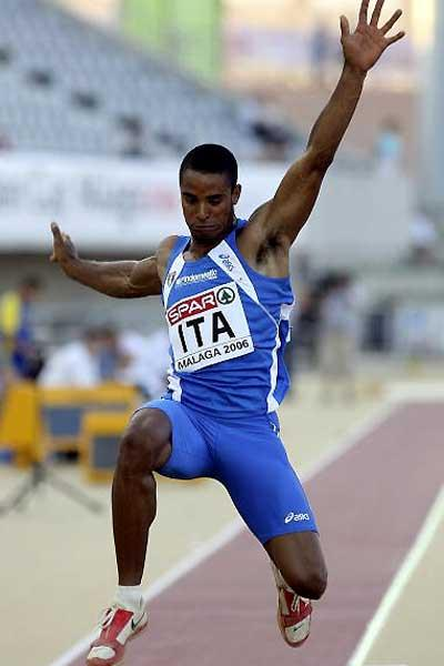 Andrew Howe long jumping in Malaga (Getty Images)