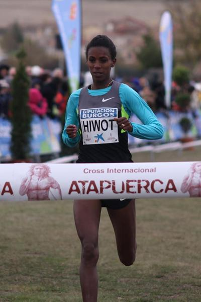 Hiwot Ayalew prevails in Atapuerca Cross Country (Alfambra Fundación ANOC)