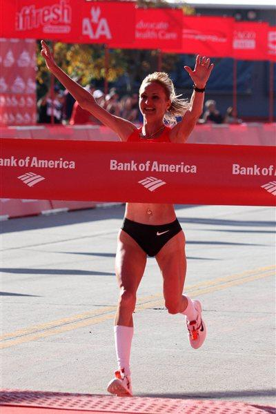 Another Russian national record for Liliya Shobukhova in Chicago, this time 2:18:20 (Getty Images)
