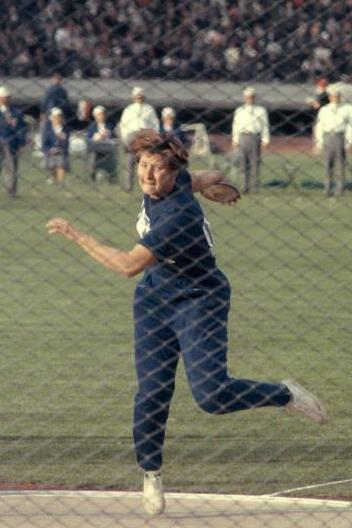 Lia Manoliu at the 1964 Olympic Games (Getty Images)