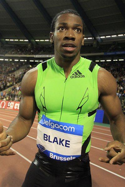 Blake after astonishing everyone in Brussels with his 19.26 sec run (Gladys Chai van der Laage)