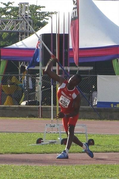 Trinidad & Tobago's Keshorn Walcott throws a 72.04m CARIFTA U-20 record in Montego Bay (Carlos Clemente)