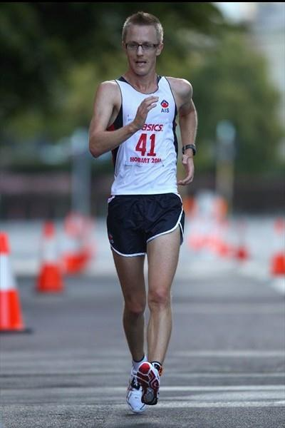 Jared Tallent opens his 2011 season with the Australian national 20Km title in Hobart (Getty Images)