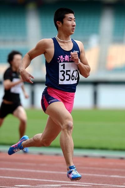 Japanese sprinter Yoshihide Kiryu (Getsuriku)