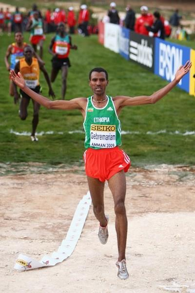 Gebre-egziabher Gebremariam translates his junior victory from seven years ago into senior success at the World Cross Country Championships (Getty Images)