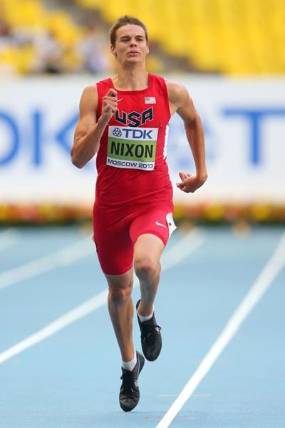 Gunnar Nixon in the mens 400m at the IAAF World Athletics Championships Moscow 2013 (Getty Images)