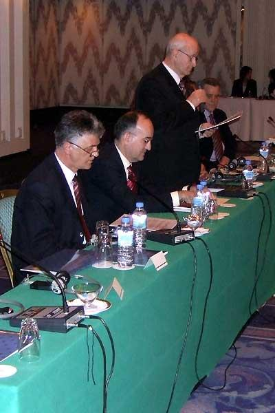The delegation from Split who were confirmed as hosts of the 2010 World Cup (IAAF)