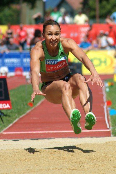 Jessica Ennis on her way to victory in the 37th edition of the Hypo Meeting in Götzis (Lorenzo Sampaolo)