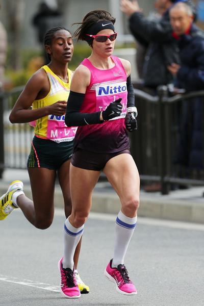 Tetyana Gamera-Shmyrko in action at the Osaka Marathon (Takeo Yamaguchi/Agence SHOT)