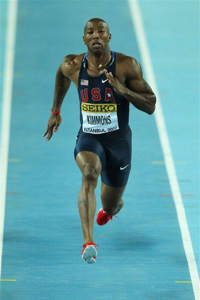 Trell Kimmons of the United States competes in the Men's 60 Metres first round during day one - WIC Istanbul (Getty Images)