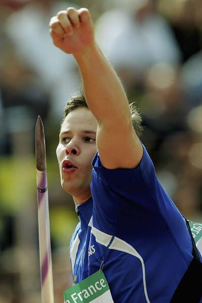 Tero Pitkamaki of Finland throws 91.33m to win the World Athletics Final (Getty Images)