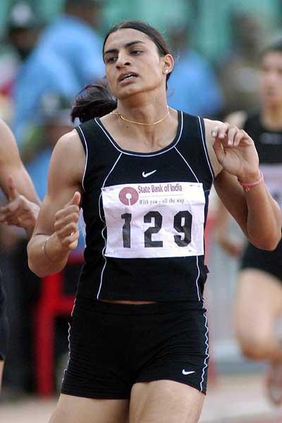 Manjeet Kaur improves the Indian women's 400m record (51.05) (Ram Murali)