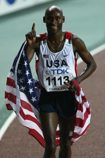 Bernard Lagat after his historic 1500/5000 double (Getty Images)
