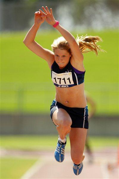 Brooke Stratton, double jumps winner at the Australian junior championships (GettyImages)