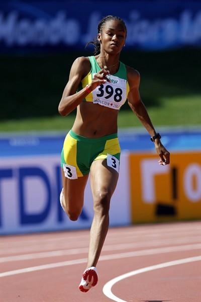Chantel Malone of the British Virgin Islands makes it into the women's 400m final (Getty Images)
