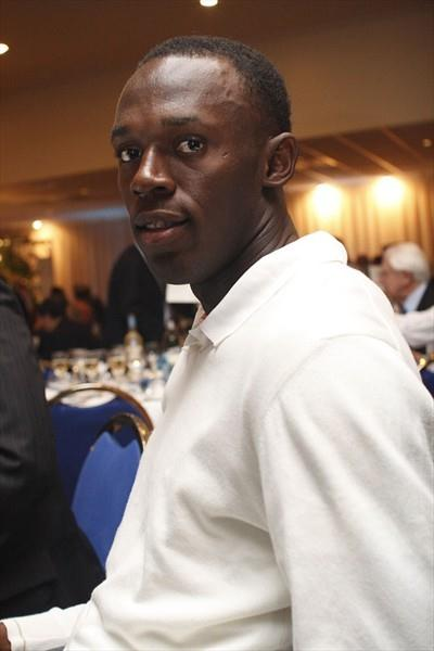 Usain Bolt in Monaco at the 2009 launch of the IAAF Diamond League (Philippe Fitte)