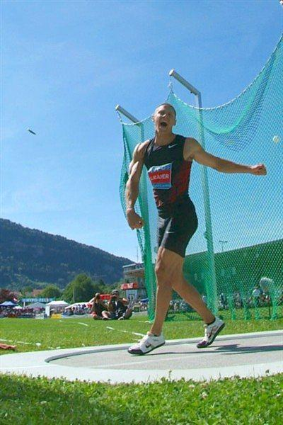 Trey Hardee in the discus at the Hypo Meeting in Götzis (Lorenzo Sampaolo)
