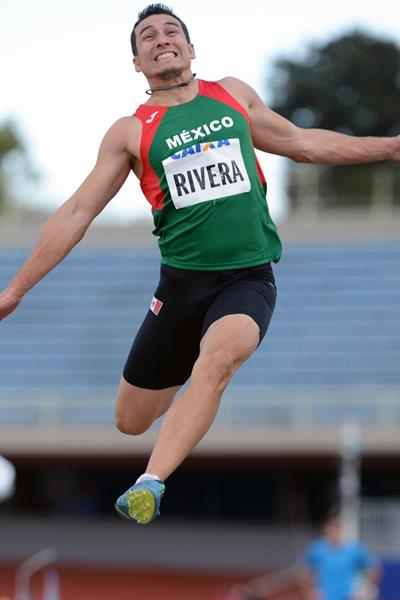 Mexico's Luis Rivera, winner of the long jump title at the Ibero-American Championships (Eduardo Biscayart)