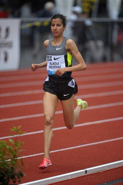 Mariem Alaoui Selsouli on her way to 3000m victory in Eugene (Kirby Lee - Image of Sport)