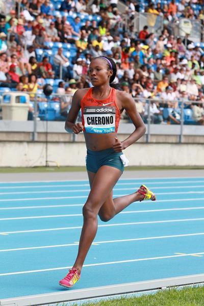 Mercy Cherono at the 2014 IAAF Diamond League meeting in New York (Victah Sailer)