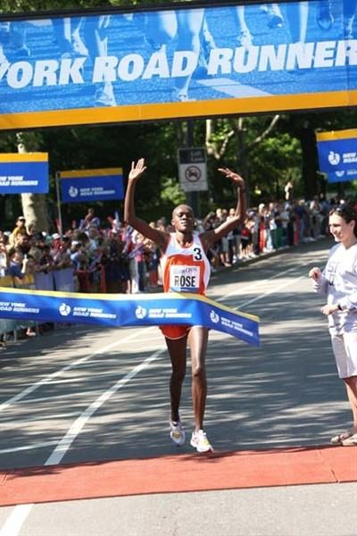 Rose Kosgei of Kenya wins the 38th NYRR New York Mini 10K on June 7 in Central Park, with a winning time of 32:43 (New York Road Runners)